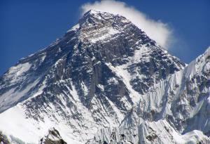 The highest peak of the world, Mt. Everest (8848 meters)