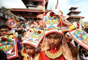 Gai Jatra Festival in Kathmandu