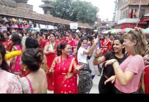 Happy Teej Festival 2018 (2075) in Kathmandu Nepal