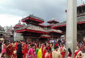 Happy Teej Festival Celebrated in Nepal by Hindu Women
