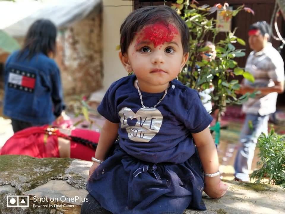Dashain Festival In Nepal Blessings, Tika  Jamara And -8887