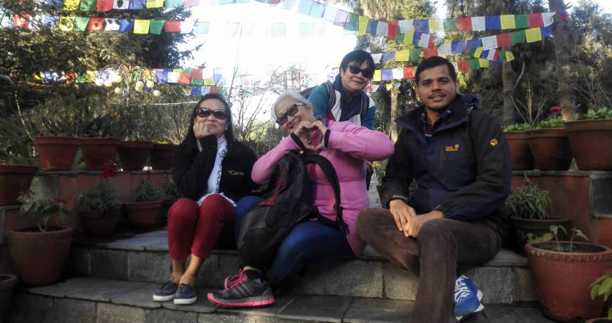 Taking Rest after the Nagarkot Day Hiking Trip in Nepal