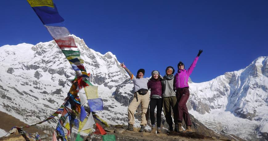 Happy Happy Faces @ Annapurna Base Camp-4130 meters (WhatsApp- +977 9851159455 trip booking)