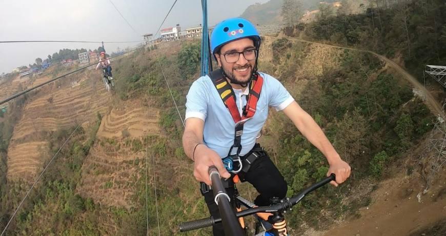 Sky-Cycling in Ghyampe Danda Ranikot