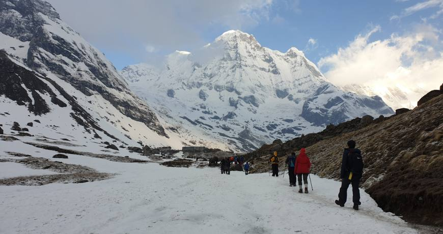 On the way to ABC (Annapurna Base Camp) Booking via WhatsApp: +977 9851159455