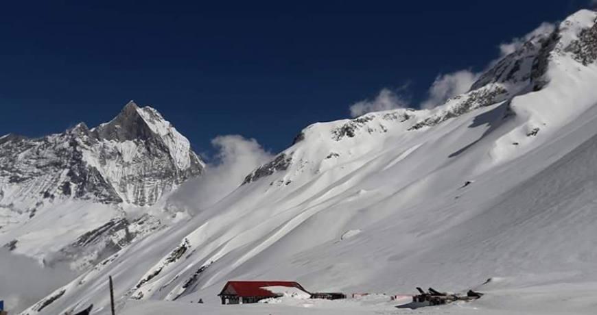 Snowy Annapurna Base Camp (ABC)- for booking (WhatsApp: +977 9851159455)