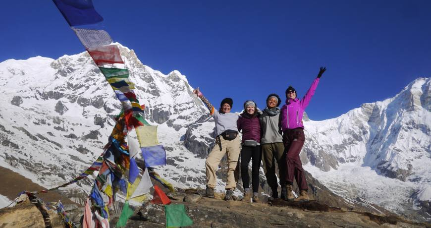 Happy Happy Faces @ Annapurna Base Camp-4130 meters