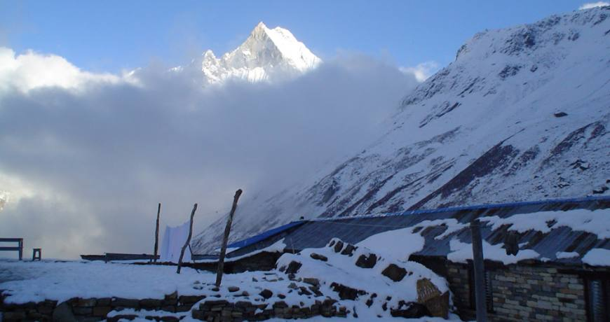 Annapurna base camp (4130m)