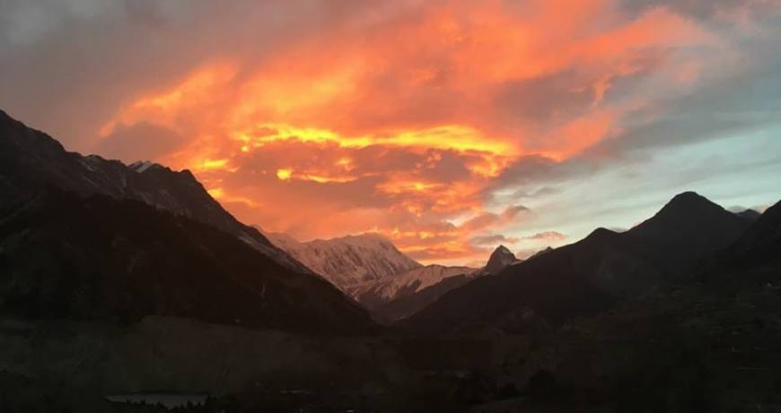 Sunset View From Manang
