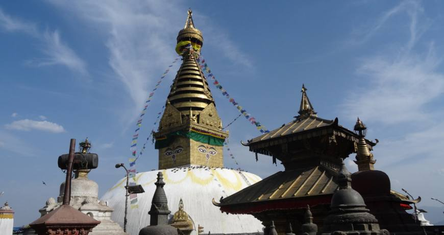 Swayambhunath Stupa (Monkey Temple) in Kathmandu