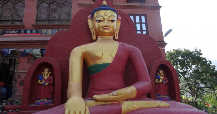 Buddhist Image in Monkey Temple
