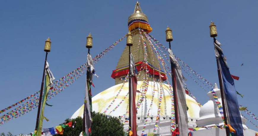 Boudhanath Stupa- a UNESCO listed world heritage site in Kathmandu