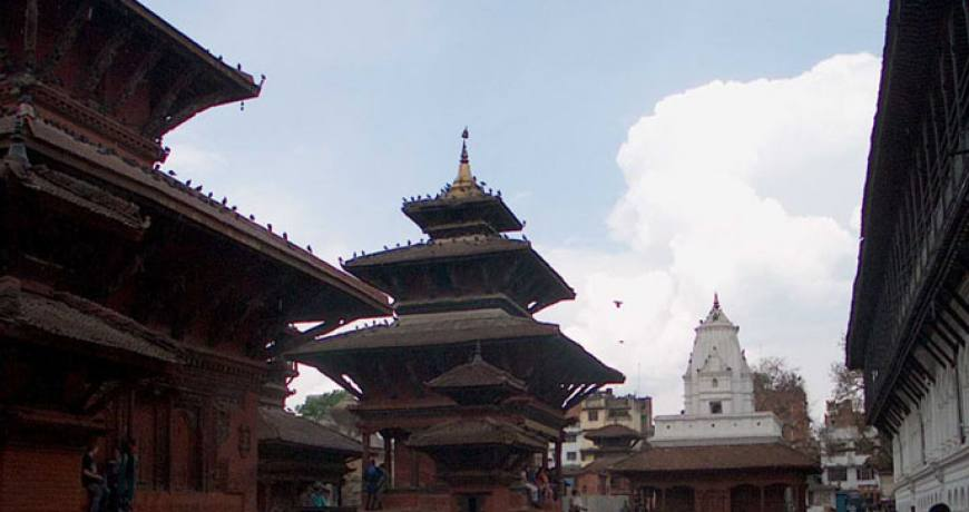 The ancient town of Dhulikhel