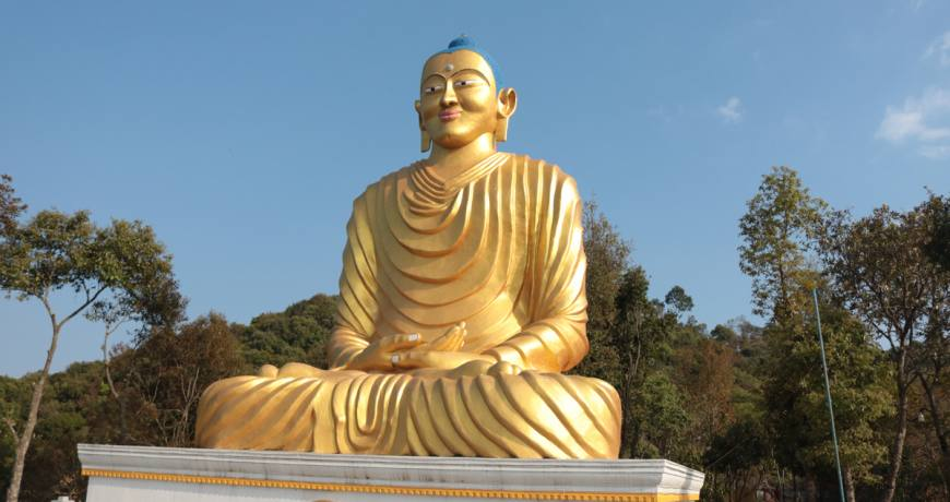 Buddha Statue in Dhulikhel (Dhulikhel Namobuddha Day Tour Contact WhatsApp: +977 9851159455)