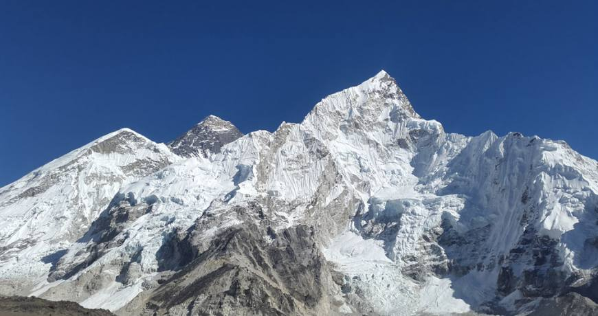 Mt. Everest and its surroundings