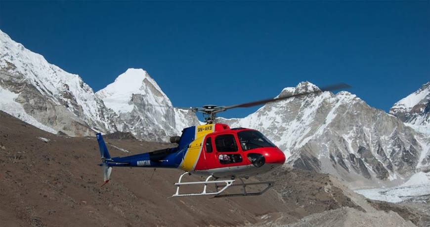 everest breakfast helicopter tour