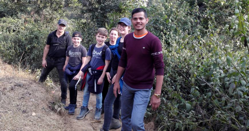 Hiking with a Dutch family