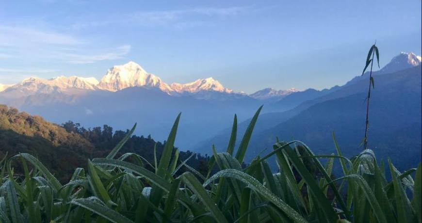 Amazing Himalayan views from Poon Hill (3210 meters), the highest point of Lower Annapurna Trekking