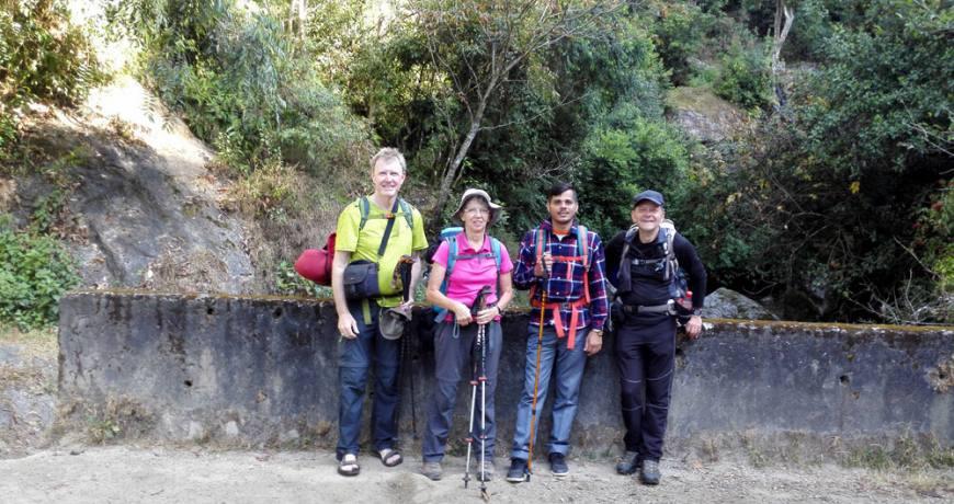 Trekkling with German Team