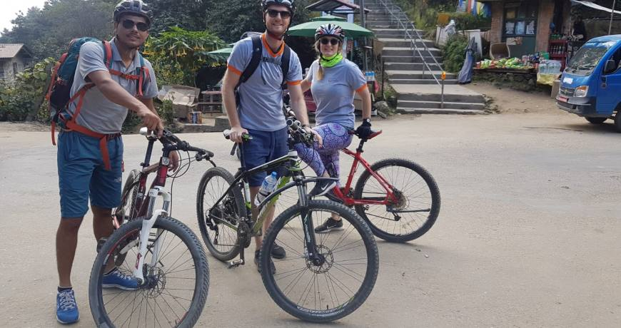 Ready to Ride from Nagarkot Viewpoint to Kathmandu WhatsApp: +977 9851159455