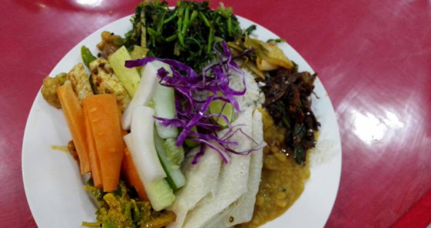 Rice with chapati set
