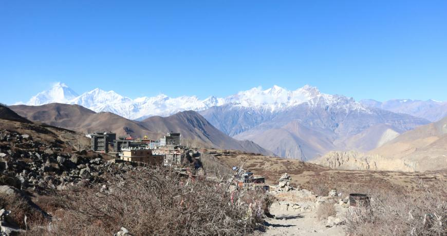 Amazing landscape of Mustang, on the way to Muktinath