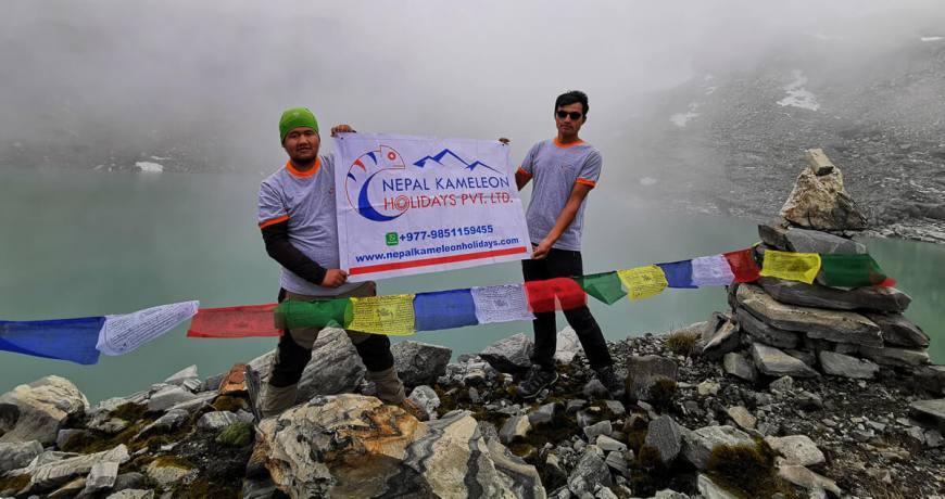 Nepal Kameleon Team @ Kajin Sara Lake (5002m) in Chame Rural Municipality, Manang- Annapurna