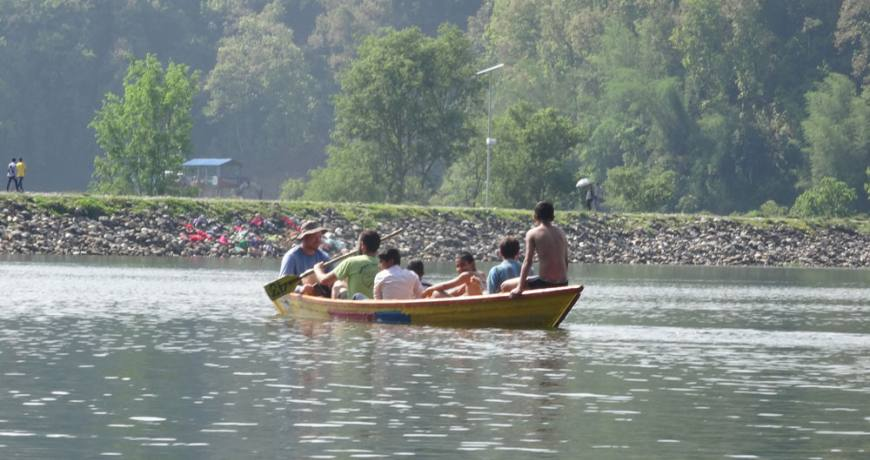 Boat riding in Pokhara