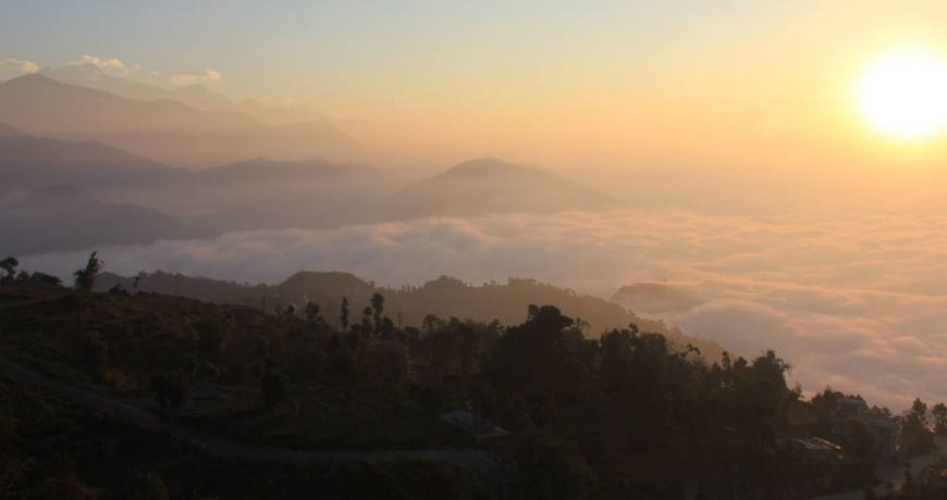 Sunrise view from Sarangkot
