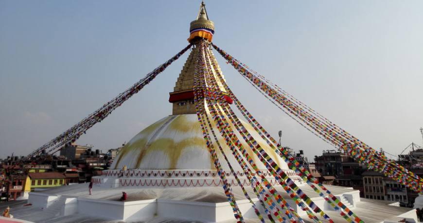 Boudhanath Stupa in Kathmandu (UNESCO World Heritage Site)