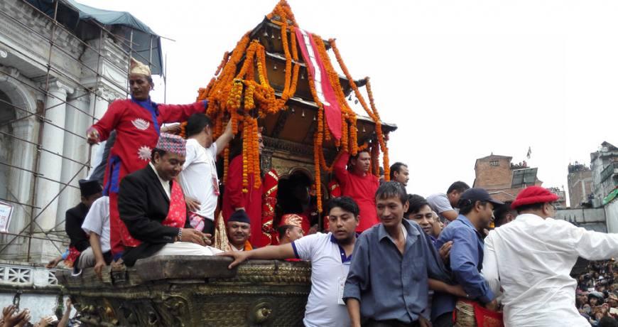 Indra Jatra in Kathmandu Durbar Square