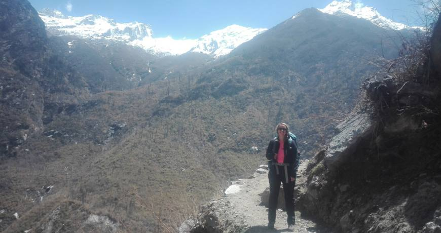 On the way to Langtang Valley