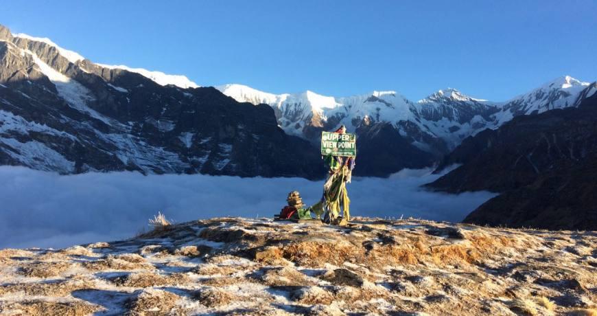 Upper View Point of Mardi Himal Trekking