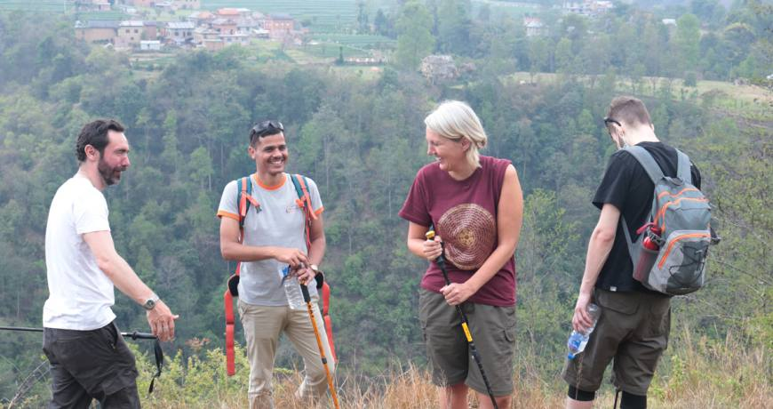Laughing, Hiking, Storytelling, Singing and Many More is the Feature of the Namobuddha Balthali Hike