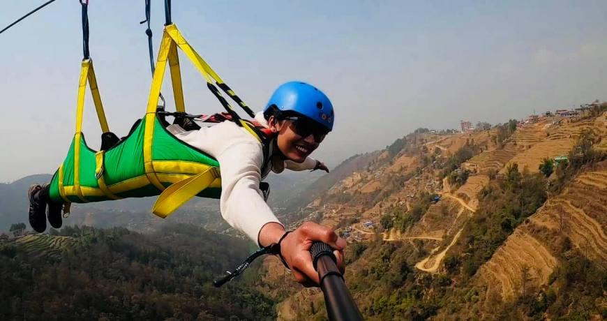 Superman-Fly Zipline Bhaktapur (15 km away from Kathmandu)