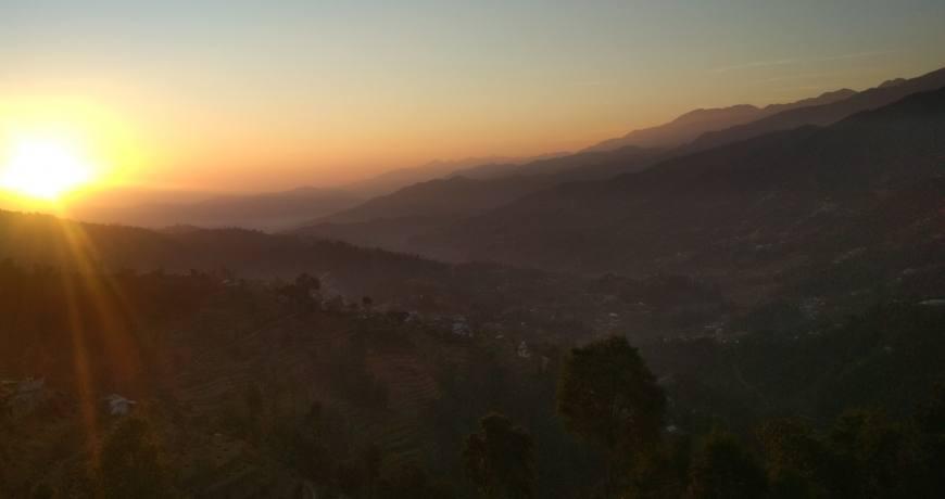 Amazing sunrise view from Ranikot