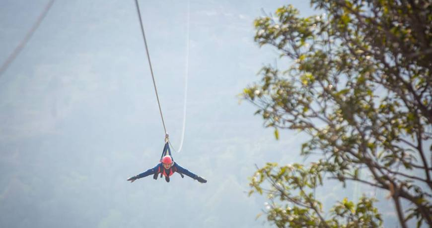 Superman fly zeepline adventure tour to Dhulikhel