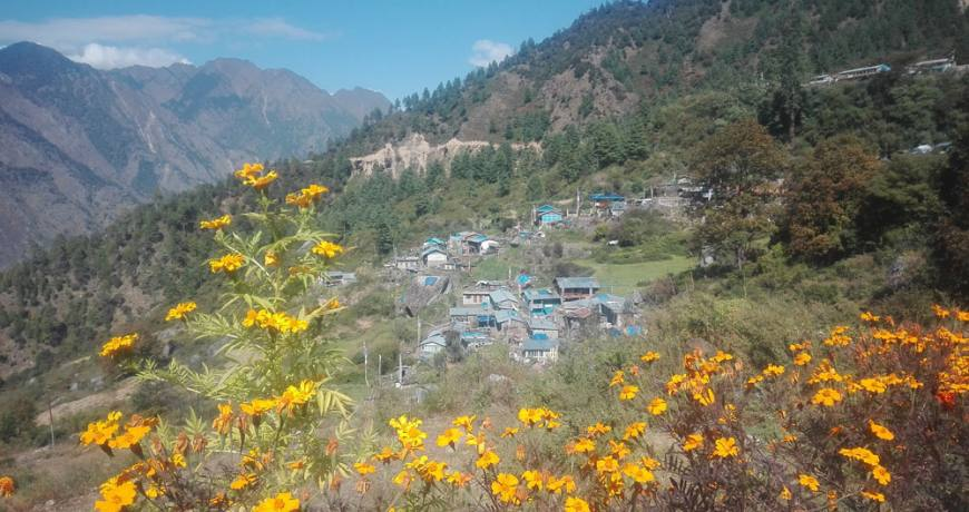 Beautiful village on Tamang Heritage Route