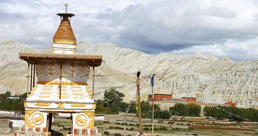 Monasteries and Chhortens in Upper Mustang Region