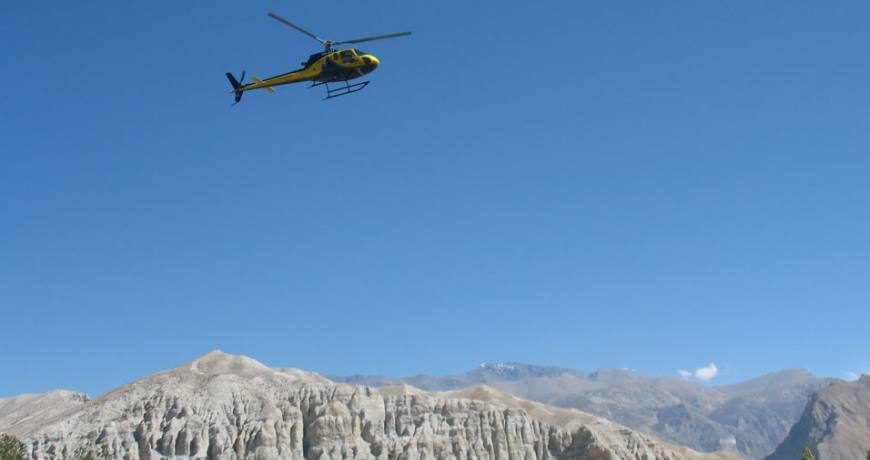 Upper Mustang Heli Tour and Trek