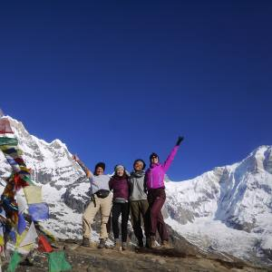 Trekkers-at-Annapurna-Base-Camp