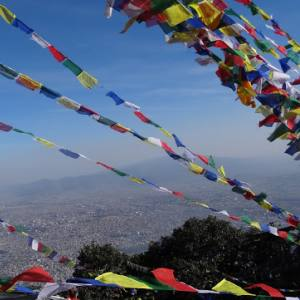 View of the Kathmandu Valley from Jamacho Monastery