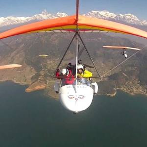 Pokhara Ultralight and Water Touch Bungy Tour