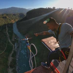 The Cliff Bungy and Swing at Kusma Parbat